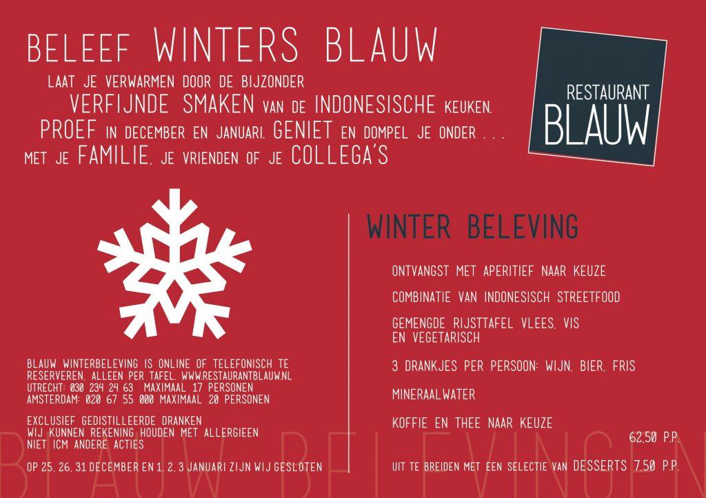 Blauw flyer beleving winter UTR-ADAM A5 NL