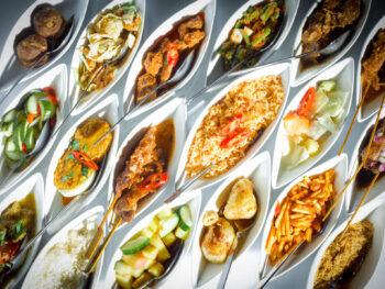 Indonesische rijsttafel Restaurant Blauw